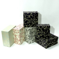 Набор коробок подар из 3шт картон ВЕТКА, 23*10*23cm HZ349(20)