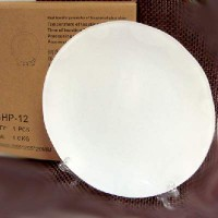 Тарелка 3D стекло матов ВОЛНА д/сублим-D15см+подставка (80)GHP-10