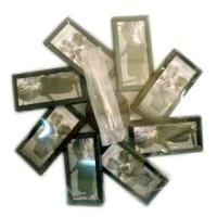 Часы настенные  на  8 фото (13х5,5см), металл, цвет серый,  размер 40х40 см