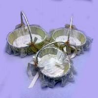 Корзинка  декорат  пластик  набор из 3 шт(45) C30