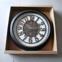 Часы пластик КЛАССИКА настенные, D  50 см. D циферблата 40 см. стрелки за стеклом.