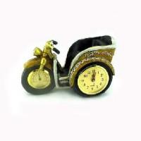 """Часы-барометр + подставка п/бутылку """"МОТОЦИКЛ"""" 23*14см, D 10см."""