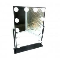 Зеркало пластик +металл с подсветкой 12ламп 31*46см JX525(8)