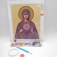Алмазная мозаика 7514-3-05   20*25см Пресвятая Дева Мария    Католическая
