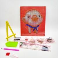 Алмазная мозаика 7514-1-JA20075  ( набор страз, плакетка с рисунком, стилус, лоток, подставка)
