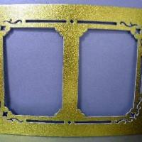 Паспарту картон золото 2 фото 10*15 (200)160#