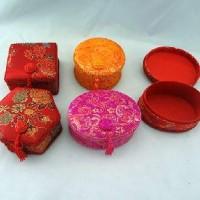 """Шкатулка для ювелирных изделий  ткань+картон """"Китайские мотивы""""5форм (240)6630-1"""
