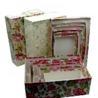 Набор коробок подар из 3шт картон с окном Цилиндр. 23см QA-14(30)