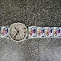 "Часы настенные ""РУЧНЫЕ""  металл, белые, размер 25*100, D 24 cm. 5фото 10*15см."