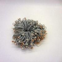 Набор резинок из 2-х шт  д/волос Серебро  К-31