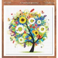 Алмазная мозаика  Дерево  911303  40*40  см ПВ